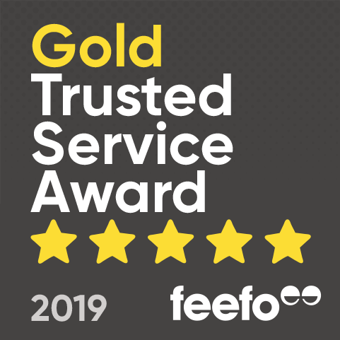 Feefo - Gold Trusted Service Award 2019